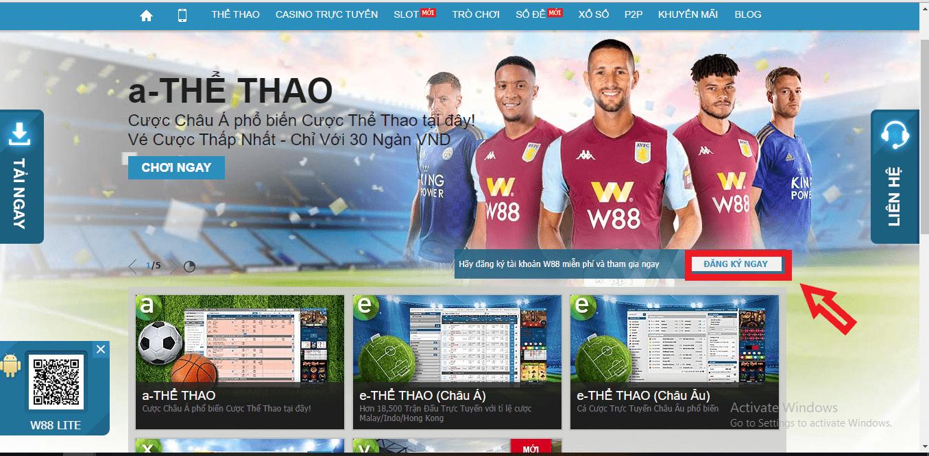 Hướng dẫn cách cá độ bóng đá W88 online qua mạng an toàn
