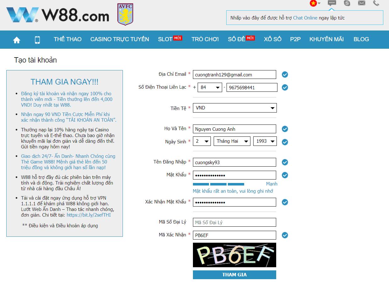 Đăng ký W88 - Hướng dẫn cách đăng ký tài khoản W88 đơn giản
