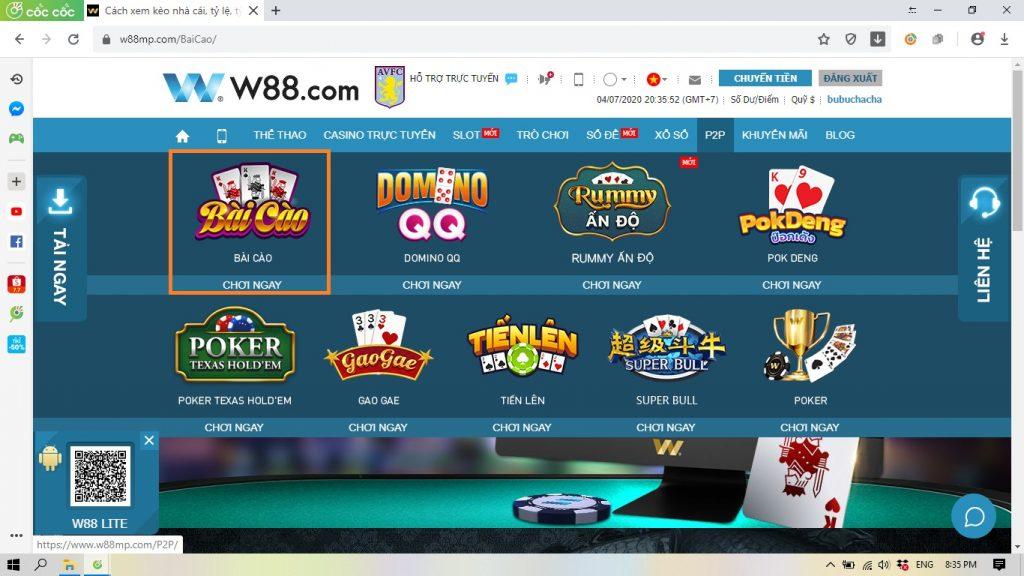 Cách chơi game bài cào 3 lá online ăn tiền đơn giản tại W88