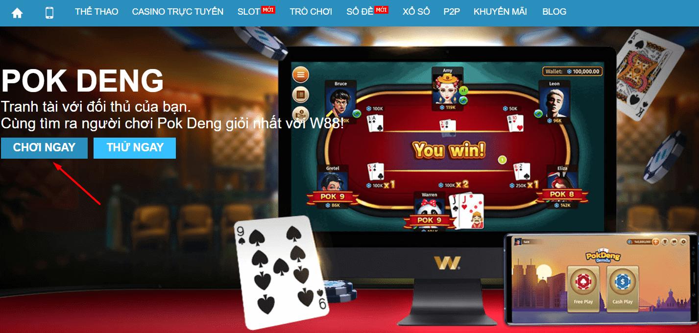PokDeng là gì? Cách chơi bài PokDeng tại W88 cực hay và đơn giản