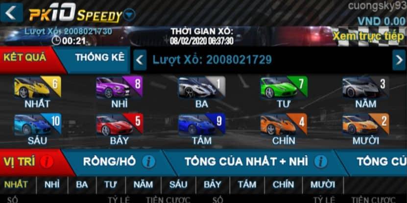 Hướng dẫn đua xe chơi xổ số PK10 W88 trên điện thoại