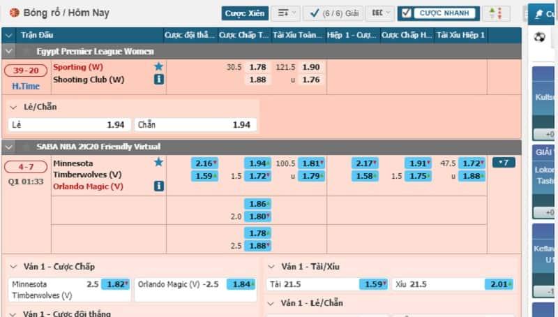 Hướng dẫn đặt cược bóng rổ online hot nhất tại W88 [trực tiếp]
