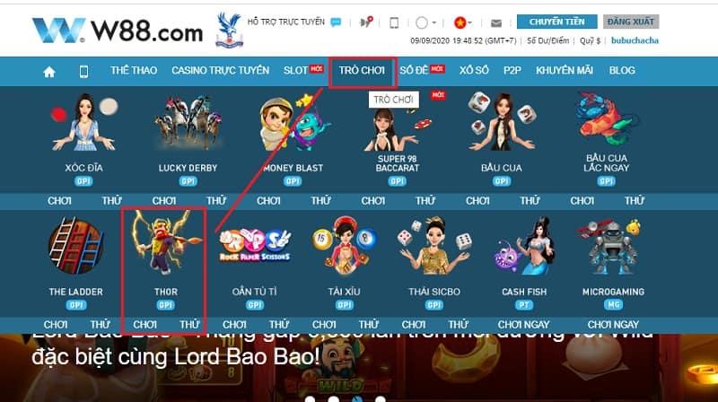 Game thor là gì? Hướng dẫn chơi game Thor cực hot tại W88