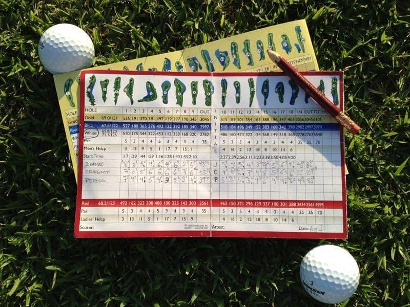 Điểm số của game đánh golf sẽ được thể hiện bằng chỉ số Par