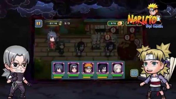 Hướng dẫn cách chơi game naruto đại chiến trên điện thoại